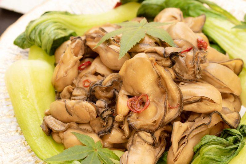 川島社長お手製の牡蠣のお料理